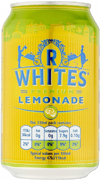 R Whites Lemonade 24x330ml